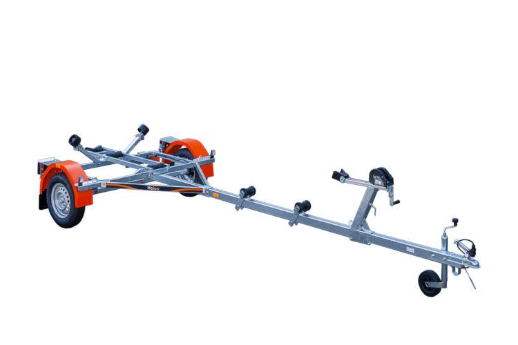 Laadukkaista materiaaleista valmistettu venetraileri. Suositeltu maksimissaan 6-7m pitkille veneille.